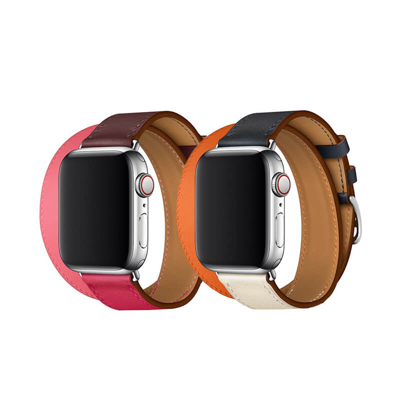 New Double Tour Apple Watch Leather Band Series 4/3/2/1