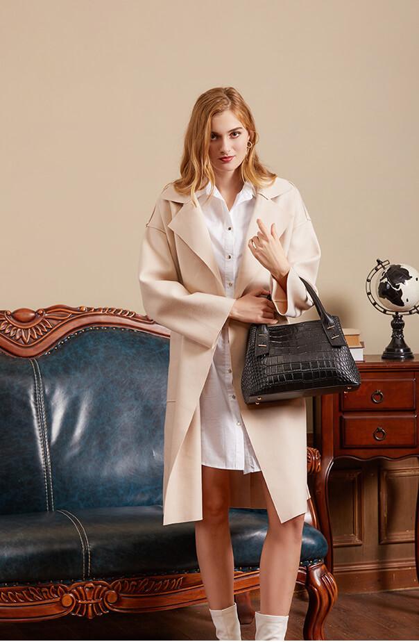 New Women Crocodile Genuine Leather Tote Handbag