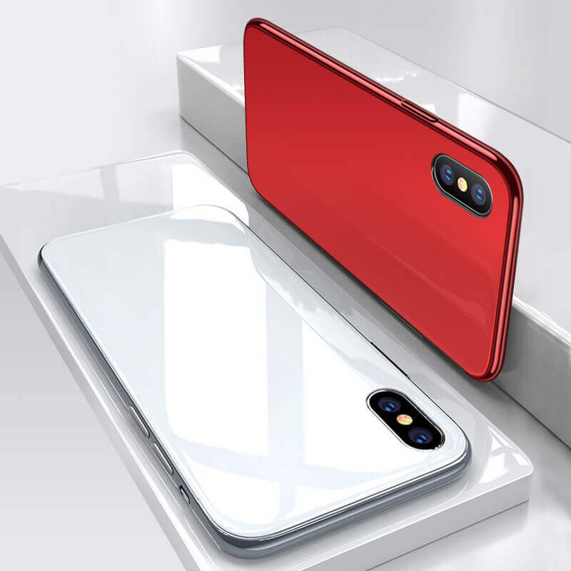 Protective Back Glass Cover iPhone X Case