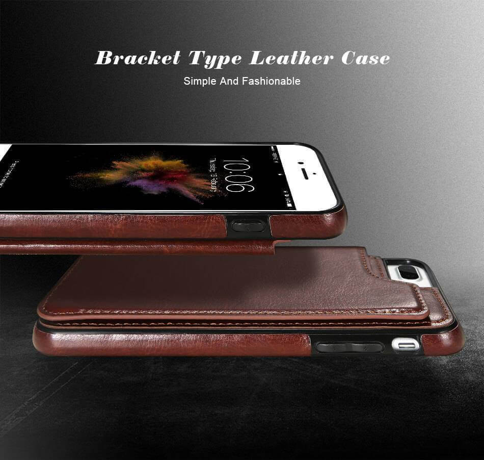 Retro Leather Case for iPhone With Card Holder