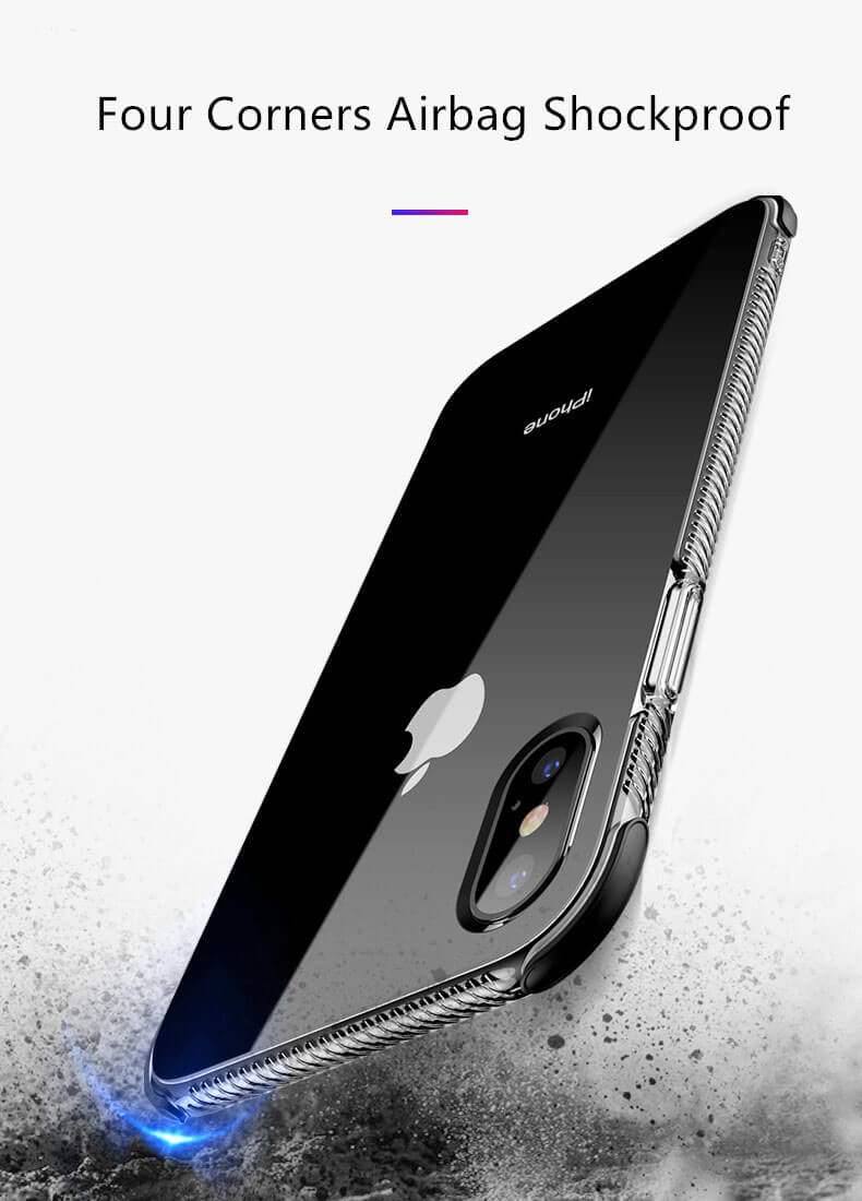 Slim Shockproof Armor Clear Case for iPhone X & iPhone 8/7 Plus & iPhone 8/7