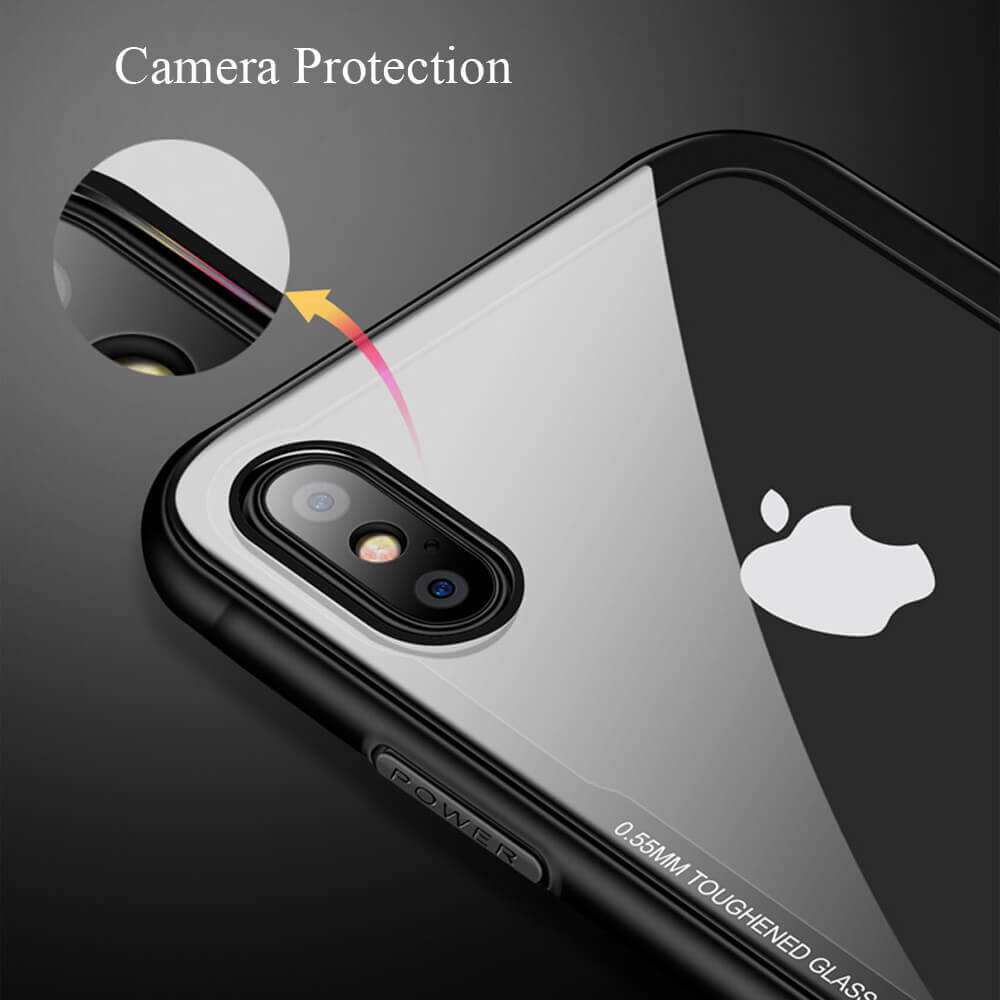Tempered Glass Clear iPhone Case