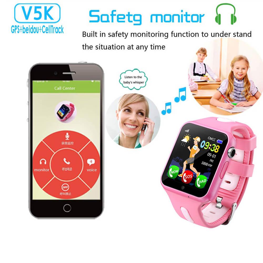 V7K  Kids GPS Tracker Smart Watch