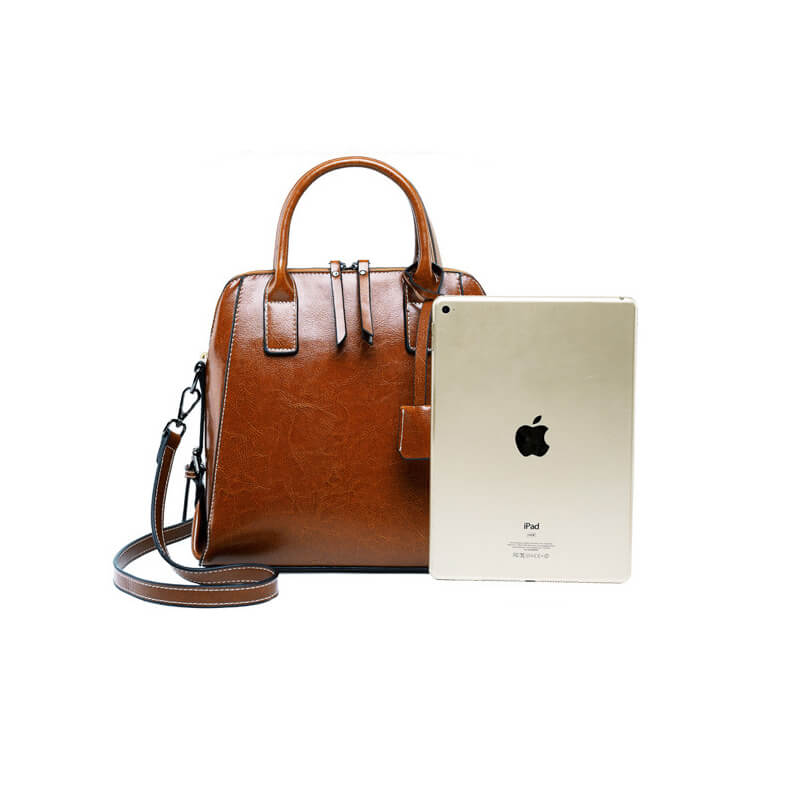 Women Vintage Leather Crossbody Handbag