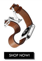 Deployment Buckle Single Tour Leather Band For Apple Watch 38mm/42mm/40mm/44mm