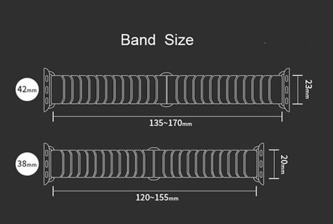 apple watch band size