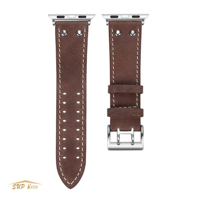 Genuine Cowhide Leather Watch Band For Apple Watch Series 3/2/1